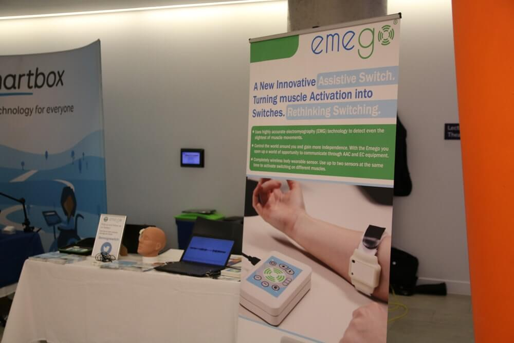 Emego exhibition stand at AAATE 17