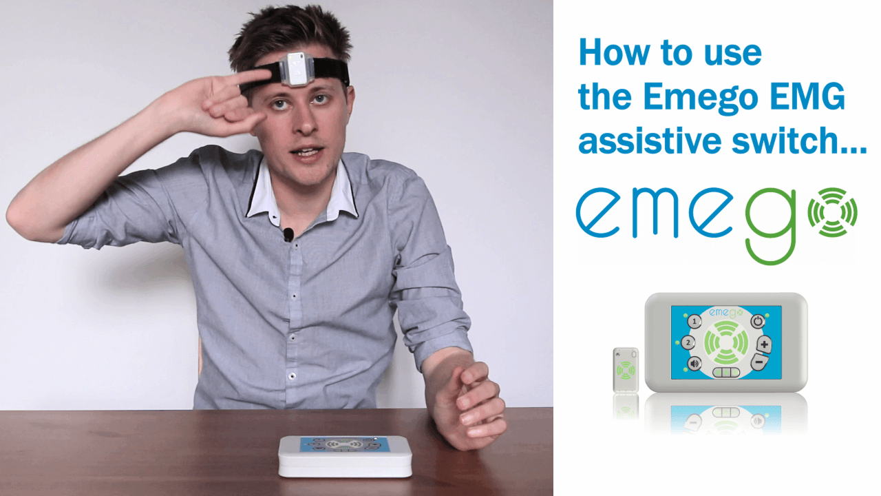 Using the Emego with the forehead muscle for EMG activation