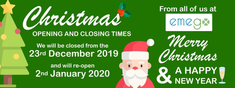 Emego Christmas Opening Times