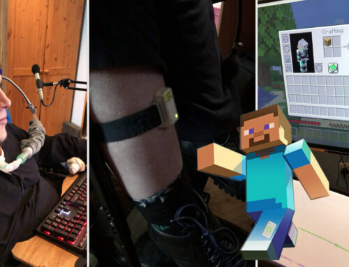 Using the Emego EMG Assistive Switch to control Minecraft!